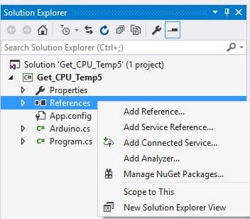 Get CPU Temperature Using Open Hardware Monitor In C#