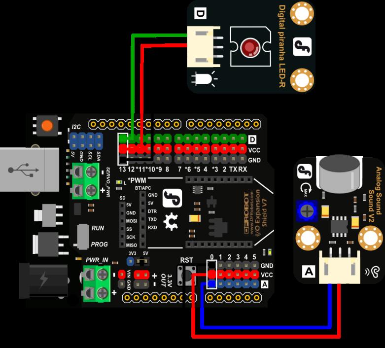 Arduino Intermediate Kit Tutorial 7 Sound Activated Led