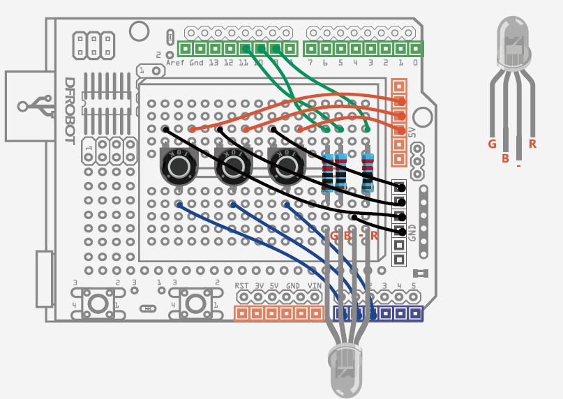 12-1 interactive adjustable rgb led circuit diagram