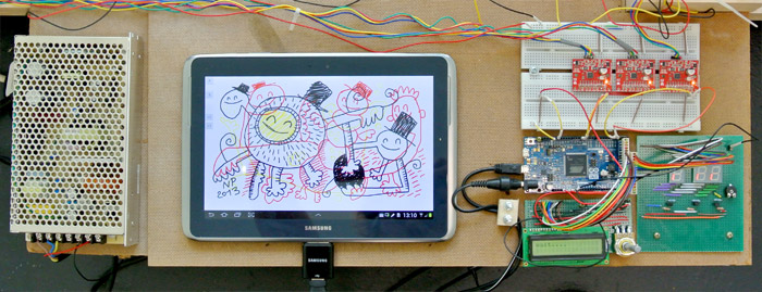 Arduino Painting Machine Sensing Your Touch - DFRobot