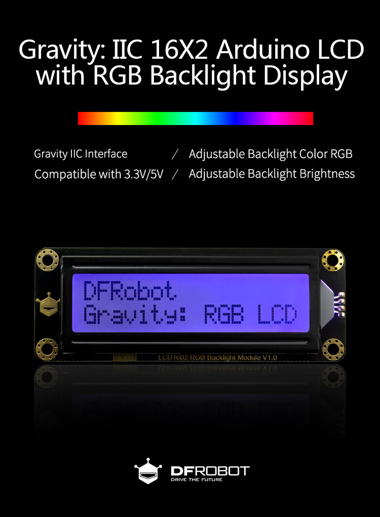 I2C 16x2 Arduino LCD with RGB Backlight Display - Introduction