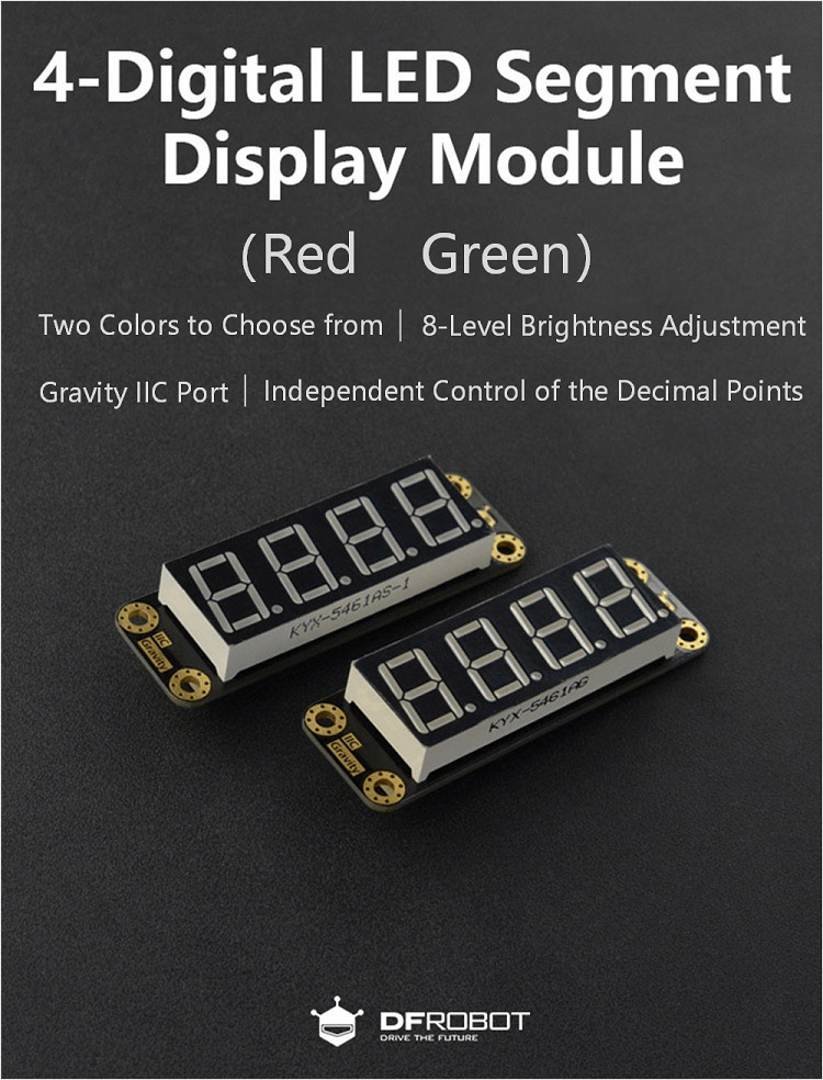 4-Digital LED Segment Display Module (Green)