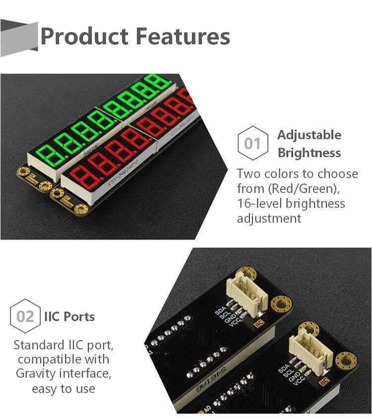 8-Digital LED Segment Display Module (Green)