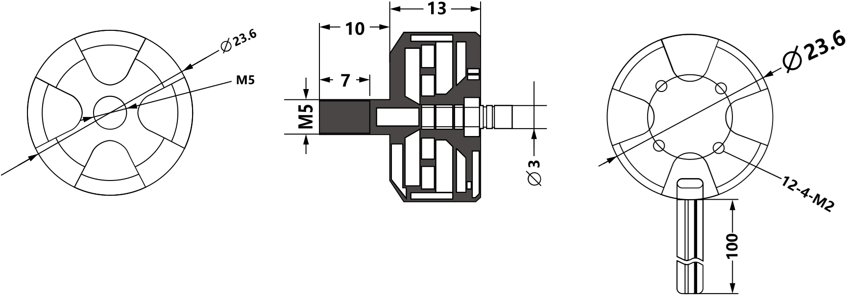 Brushless DC Motor MTO1804 (CCW)