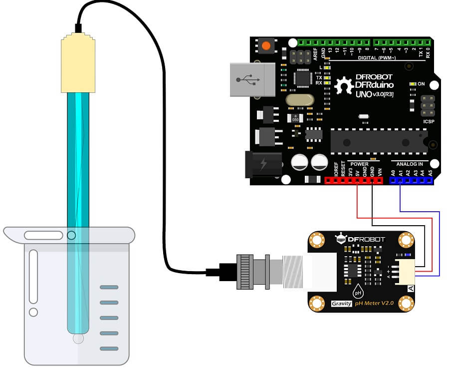 SEN0161-V2-Arduino Connection Diagram