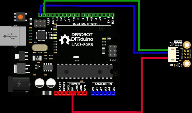 TCS34725 RGB Color Sensor For Arduino Connection Diagram -DFRobot