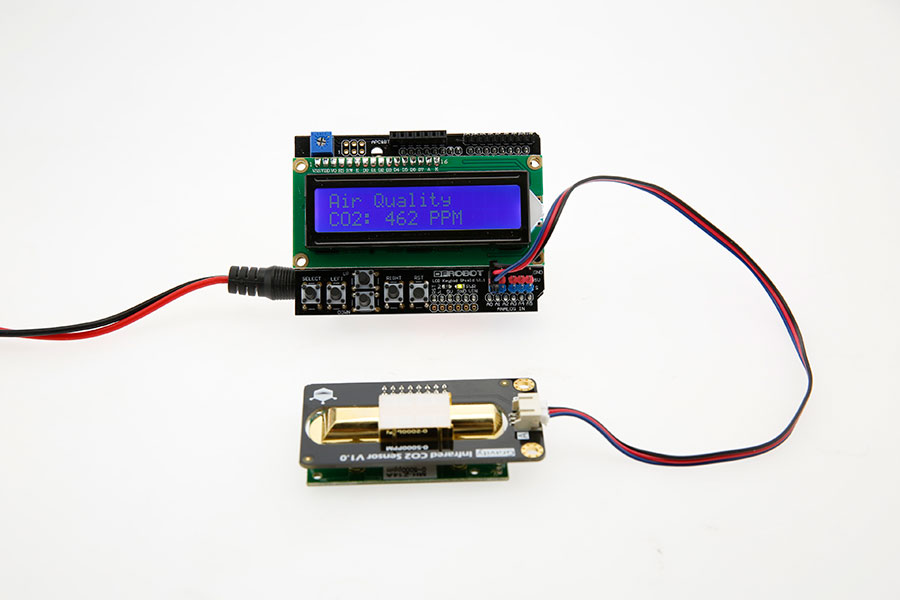 Gravity: Analog Infrared CO2 Sensor For Arduino (0~5000 ppm) arduino connection
