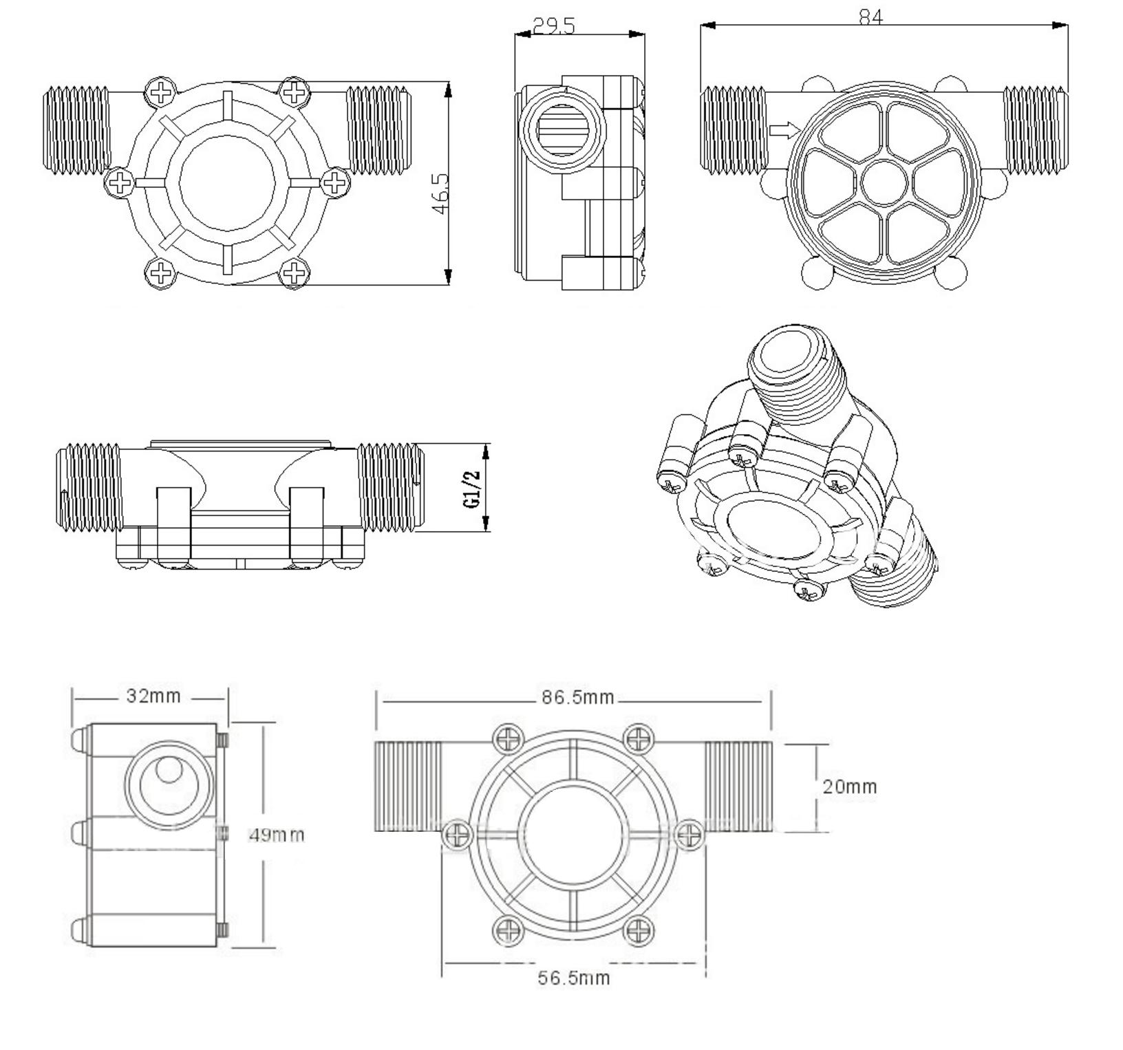 Water Turbine Generator 5VDC DFRobot