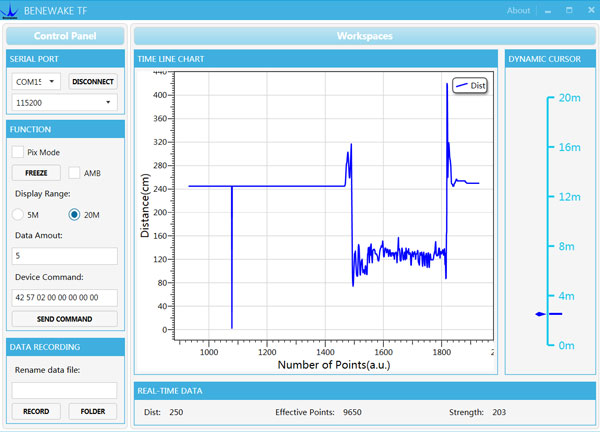 DE-LIDAR TF02-Pro (ToF) Laser Rangefinder (22m)