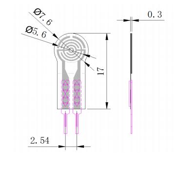 RP-C7 6-ST Thin Film Pressure Sensor