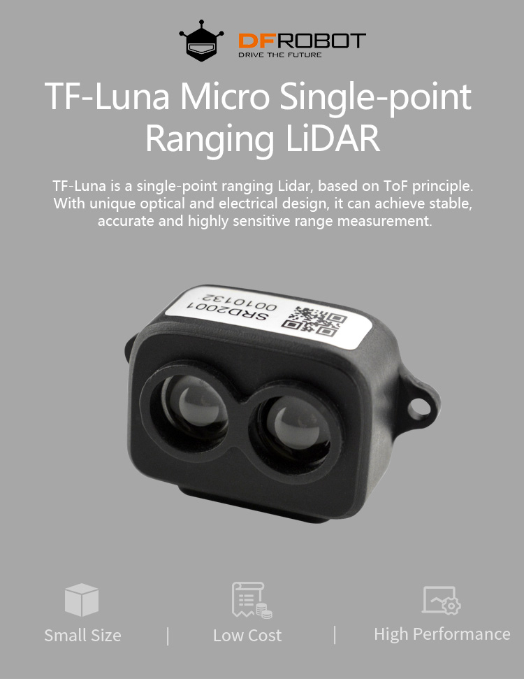 TF-Luna (ToF) Micro Single-point Ranging LiDAR