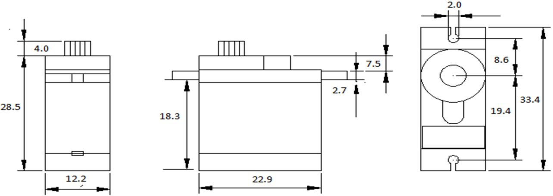 9g 180° Metal Servo with Analog Feedback (1.5kg)