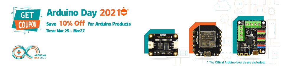 DFRobot Arduino Day 10% Off Coupon