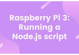 Raspberry Pi 3: Running a Node.js script