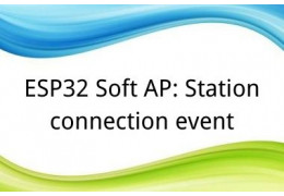 ESP32 Soft AP: Station connection event