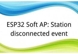ESP32 Soft AP: Station disconnected event