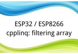 ESP32 / ESP8266 cpplinq: filtering array