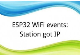 ESP32 WiFi events: Station got IP