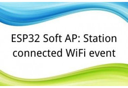 ESP32 Soft AP: Station connected WiFi event