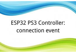 ESP32 PS3 Controller: connection event