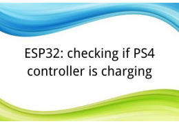 ESP32: checking if PS4 controller is charging