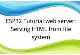 ESP32 Tutorial web server:9. Serving HTML from file system