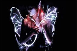 Programmable Fiber Optic Fairy Wings