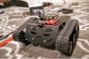 DFRobot Devastator Tank Robot Part 2 Raspberry Pi Python Code