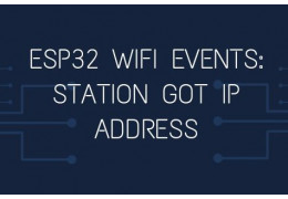 ESP32 WiFi events: Station Got IP address