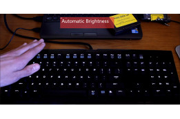 Custom LED color and brightness on a keyboard