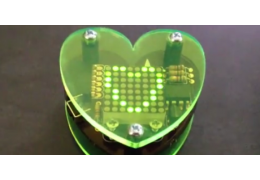 Heart-shaped Electronics Project