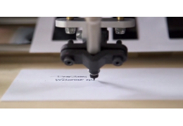 Calligraphic robot imitates your handwriting using a fountain pen