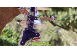 Interactive Robot Snake Hangs from Trees and Squirts Passers By