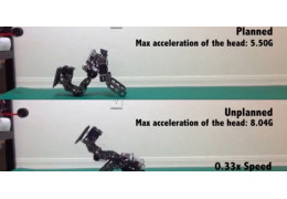 Algorithm minimizes impacts for falling robots