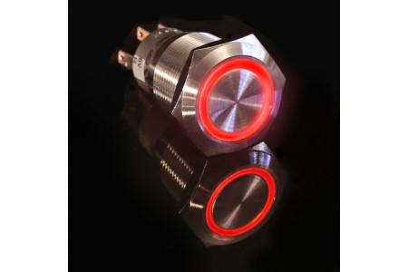 Metal illuminated pushbutton-Red Ring