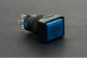 Self Locking Lamp Press Button-Blue