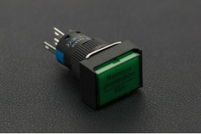 Self Locking Lamp Press Button - Green