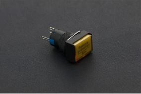 Self Locking Lamp Press Button -Yellow