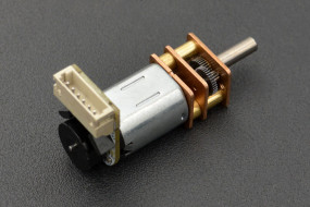 Micro Metal Geared motor w/Encoder -  6V 310RPM 50:1