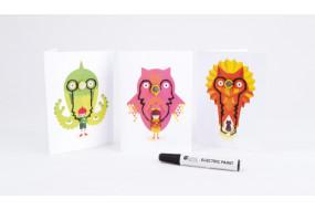 Flashing Card Set - Power Animals
