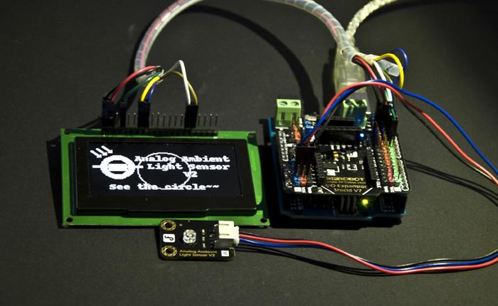 Gravity Arduino Raspberry Pi Light Sensor Project