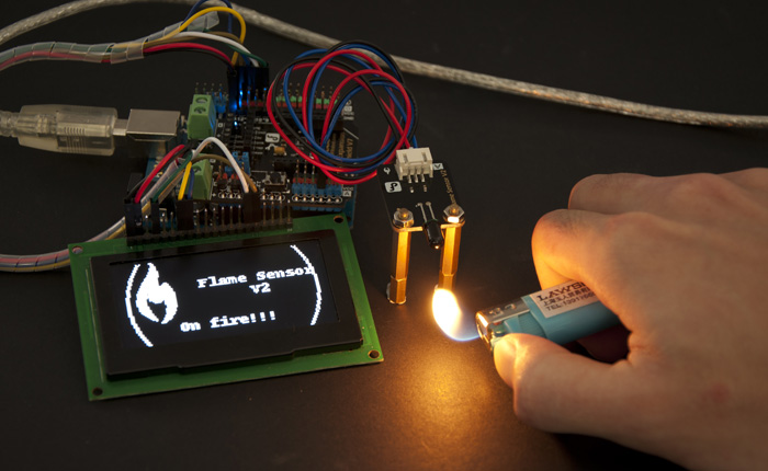 Arduino Flame Sensor Demo Project