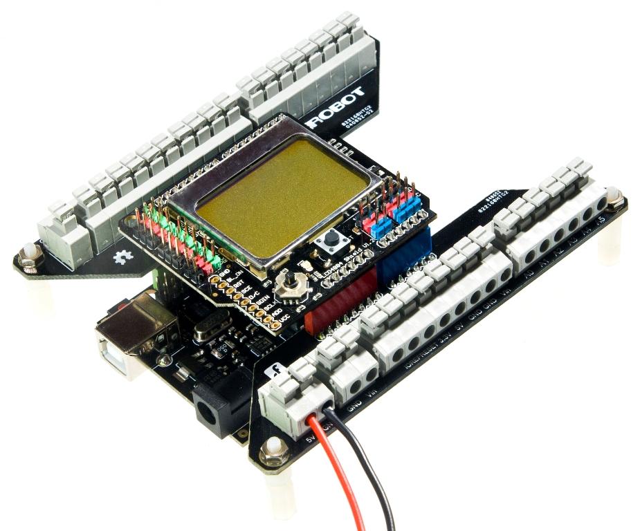 Arduino Screwless Terminal Shield Demo application 1