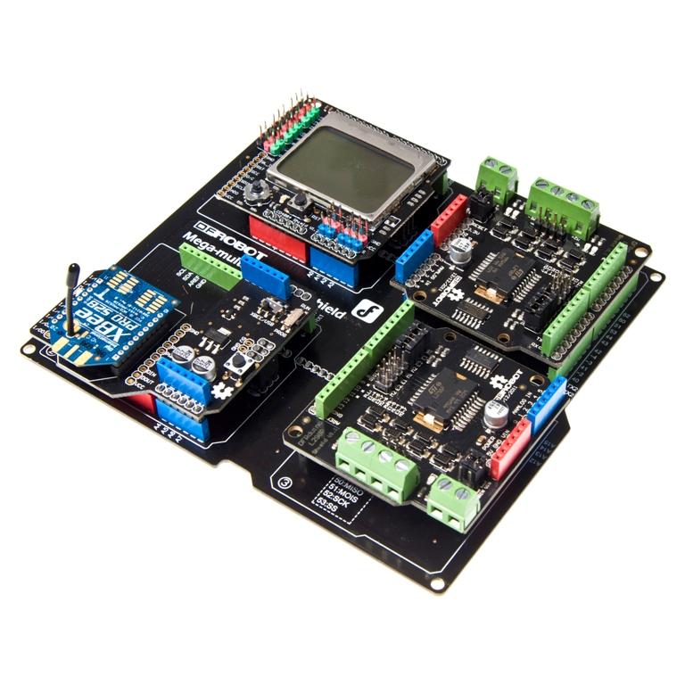 Mega Multi IO Shield For Arduino Mega / DUE - DFRobot