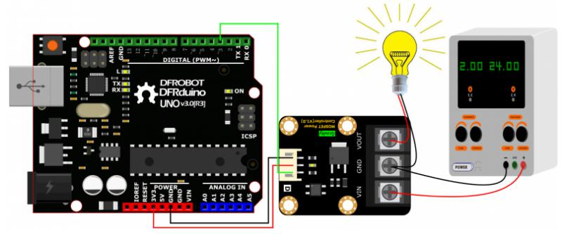 Gravity: MOSFET Power Controller Connection