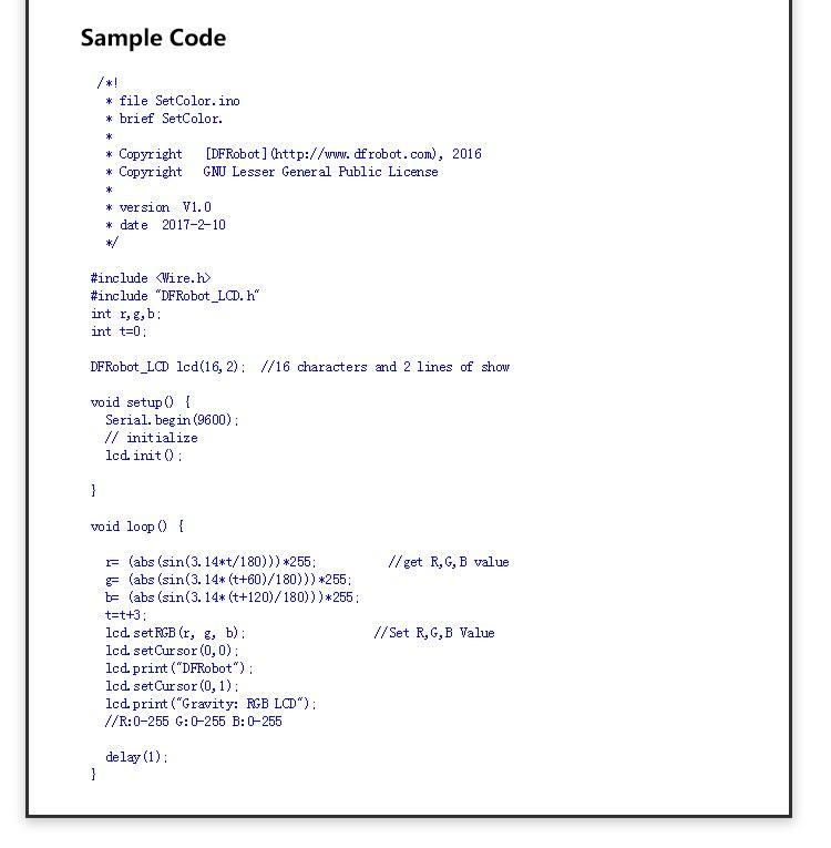 DFR0464 Programming Sample Codes