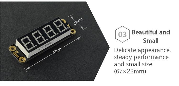4-Digital LED Segment Display Module (Green)