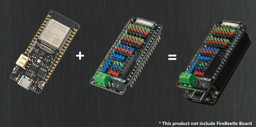 Gravity: IO Shield for FireBeetle M0 and ESP32-E
