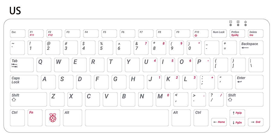 UK and US English Keyboard