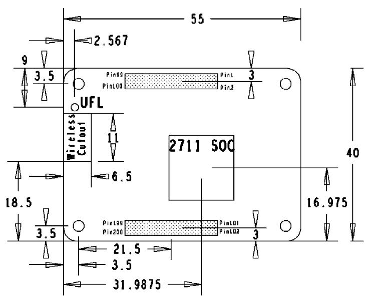 RPI Compute Module 4 Dimensions